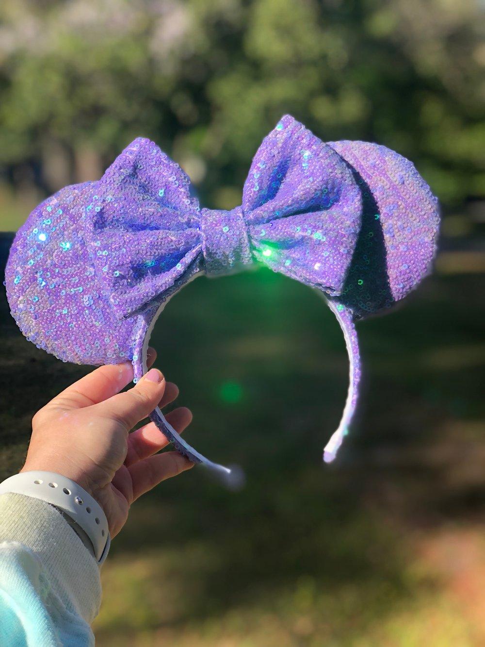 Image of Purple Pixie Sequin Ears