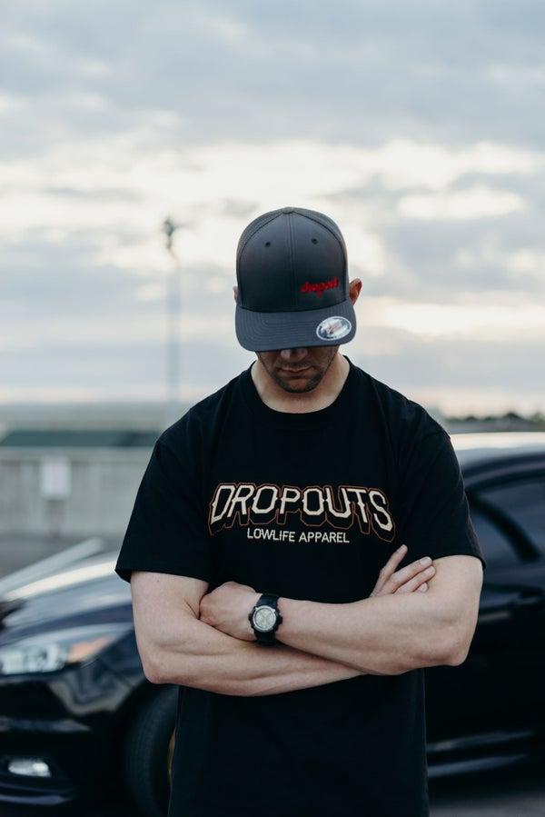 Image of DROPOUTS ROUNDED LOGO EMBROIDERED HATS