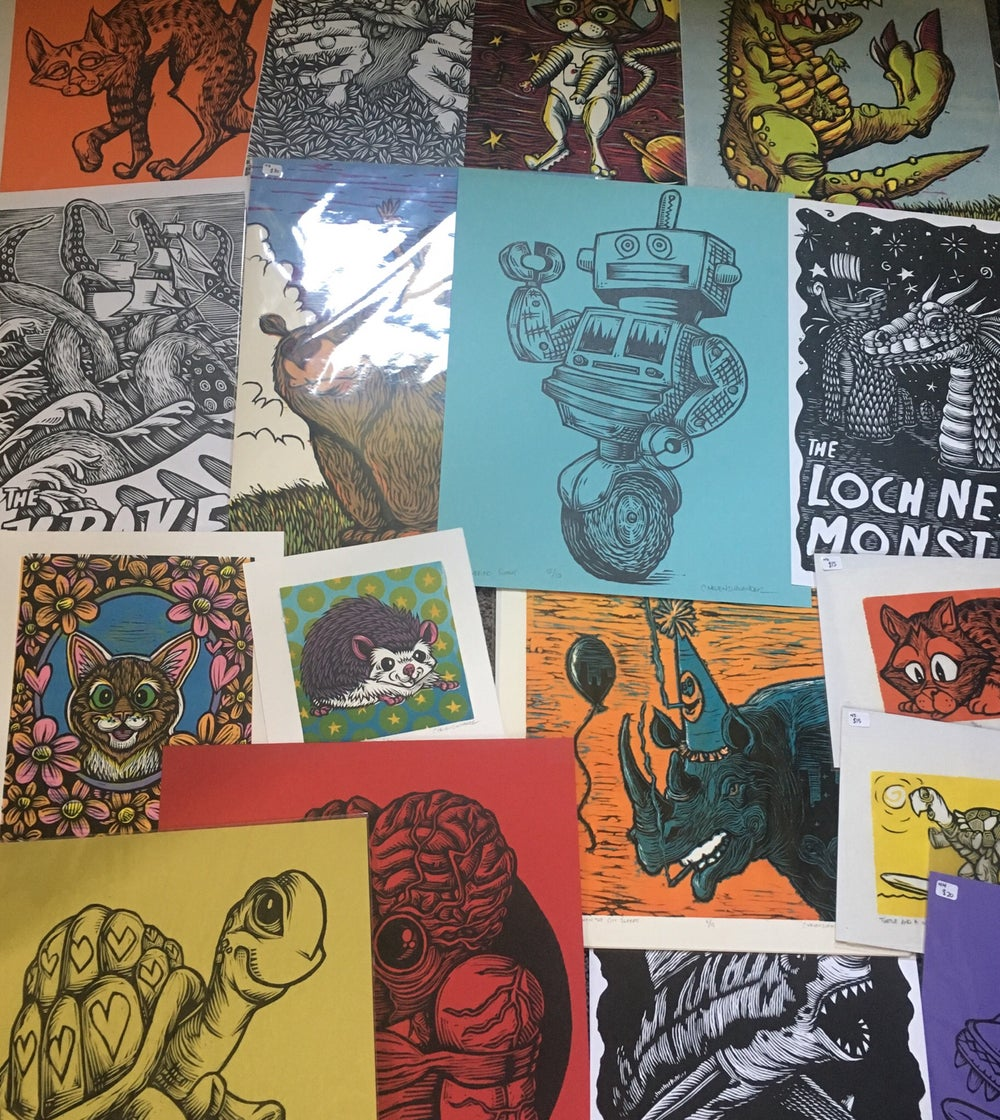 Wacky woodcut Wednesday! Noosh! Print archives!
