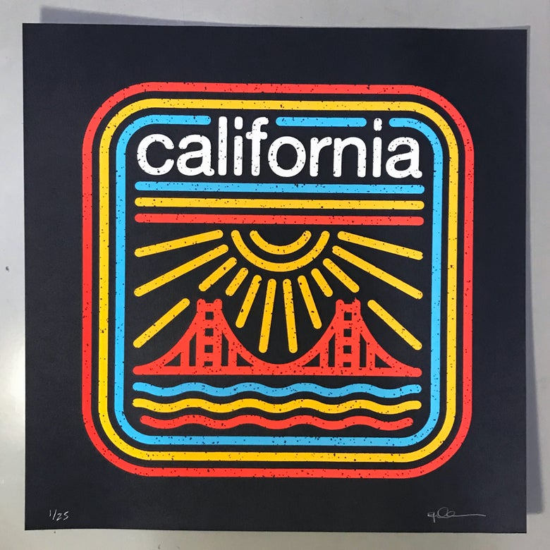 "Image of California - 8""x8"" Screen-Print"