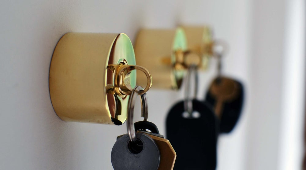 Image of Pure Brass Key Holder with fob