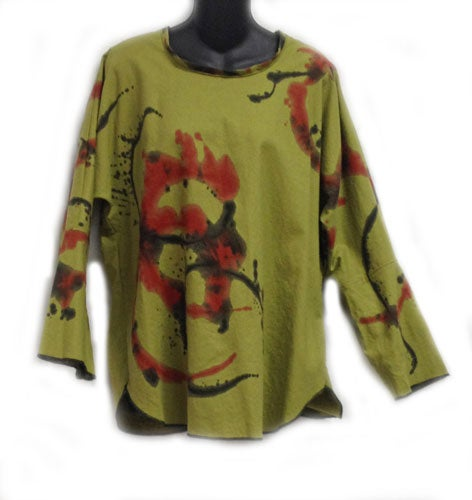 Image of Zena Tunic - 45%Linen/55% Cotton - hand painted