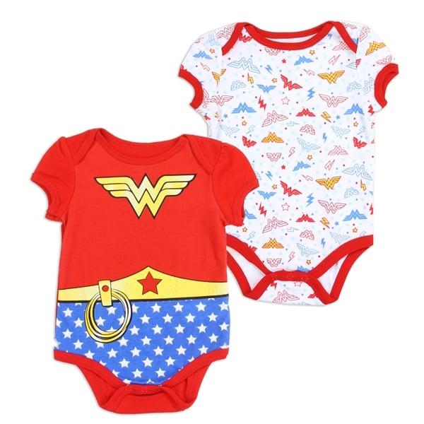 Image of Girls Newborn Wonder Woman Onesie Set