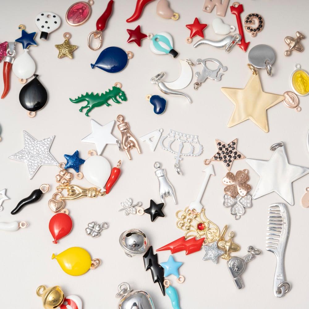 Image of Mono orecchino argento ciondolo personalizzato