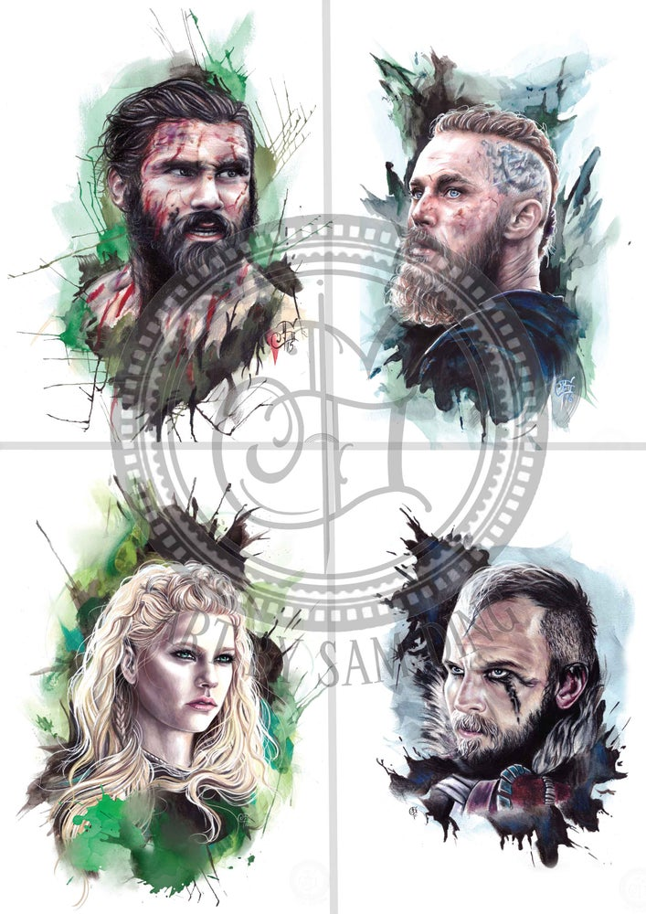 Image of Vikings A3 Prints (please select design)