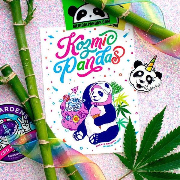 Image of Kozmic Panda Sticker Sheet