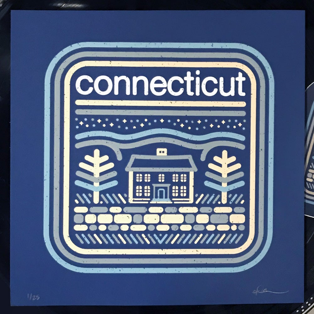 """Image of Connecticut - 8""""x8"""" Screen-Print"""