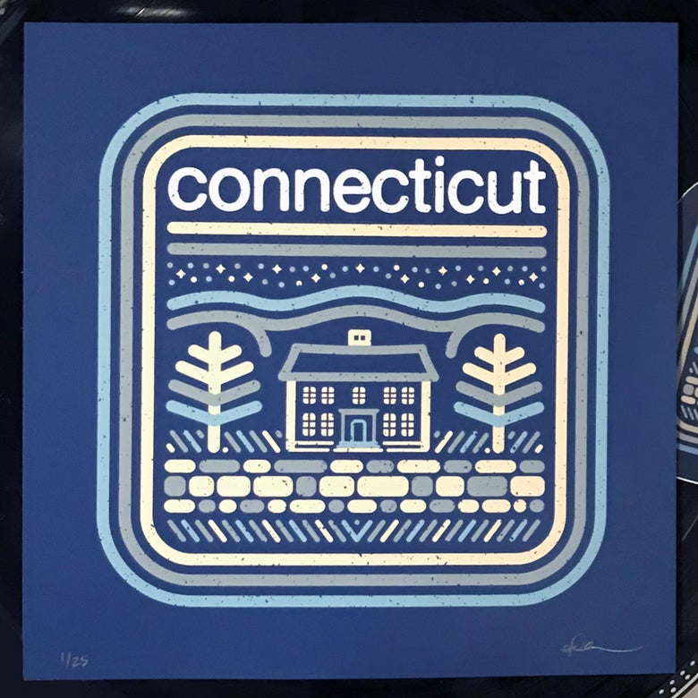 "Image of Connecticut - 8""x8"" Screen-Print"