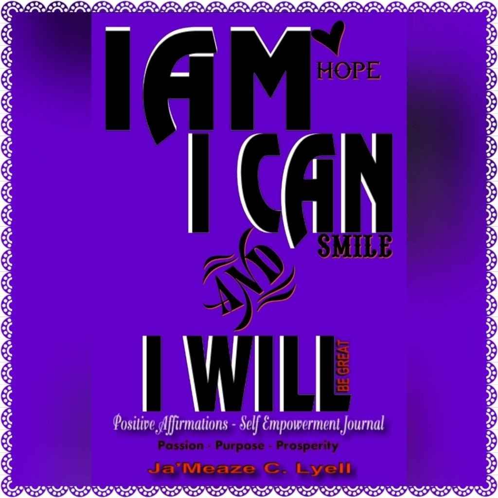 Image of I AM I CAN AND I WILL Positive Affirmations Self Empowerment Journal