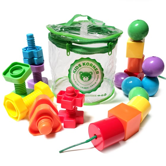 Image of Beads & Bolts Set - 2-Toys-In-1