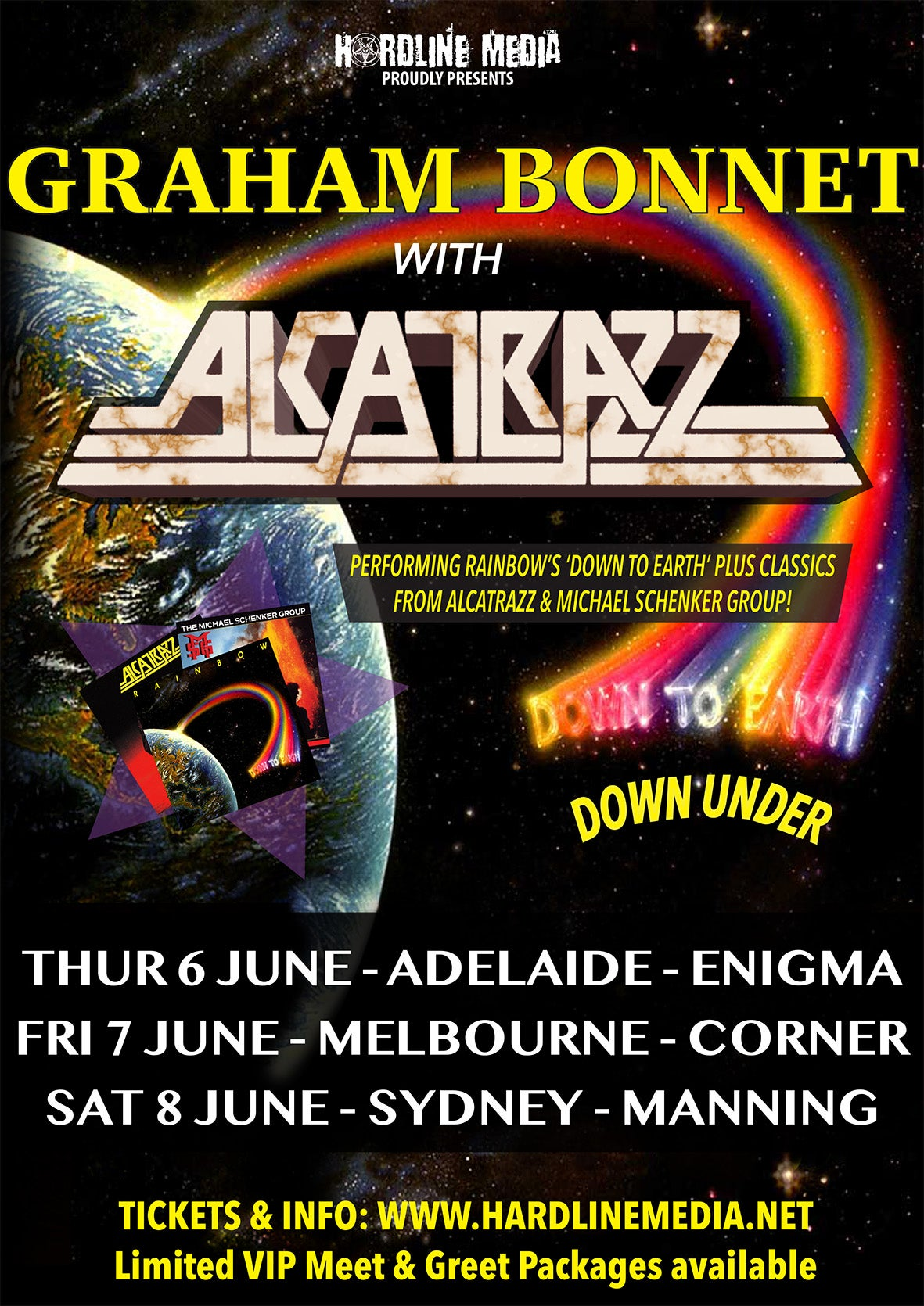Image of GA TICKET - GRAHAM BONNET with ALCATRAZZ - ADELAIDE, ENIGMA - THURS 6 JUNE
