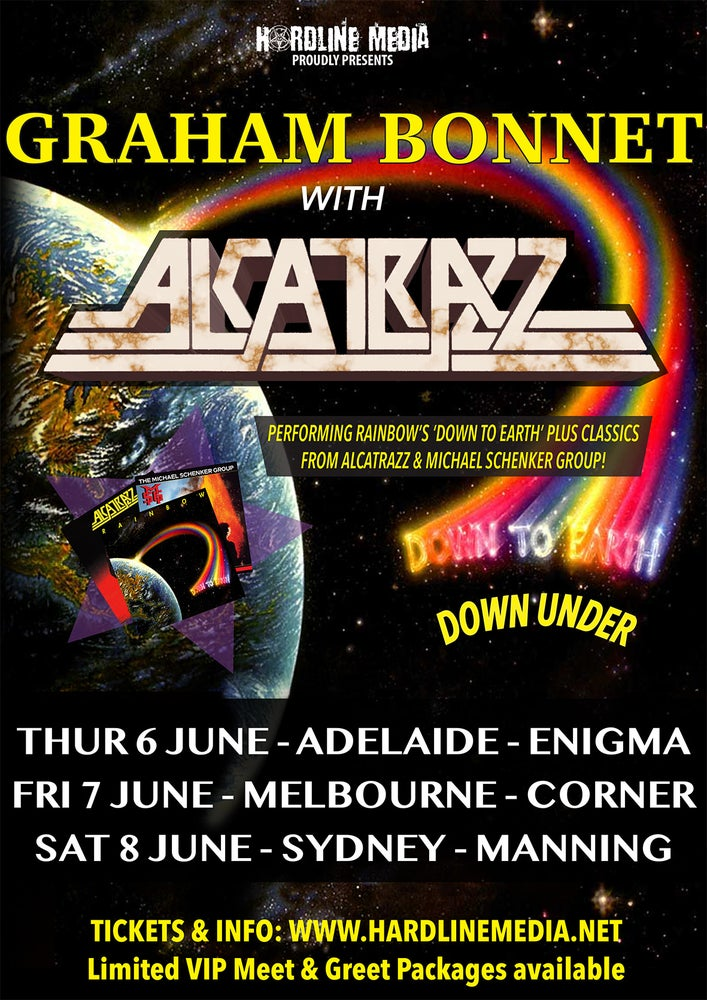 Image of VIP TICKET - GRAHAM BONNET with ALCATRAZZ - ADELAIDE, ENIGMA - THURS 6 JUNE