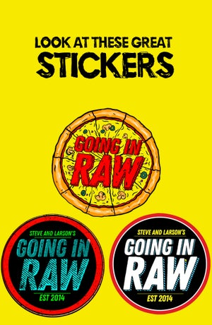 Image of GOING IN RAW LOGO SHIRT X STICKER PACK!