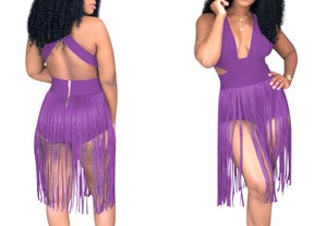 "Image of ""Day Party"" Fringe Pool Romper"