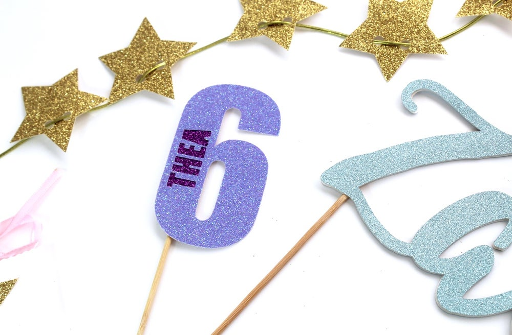 Image of What's in a number cake topper