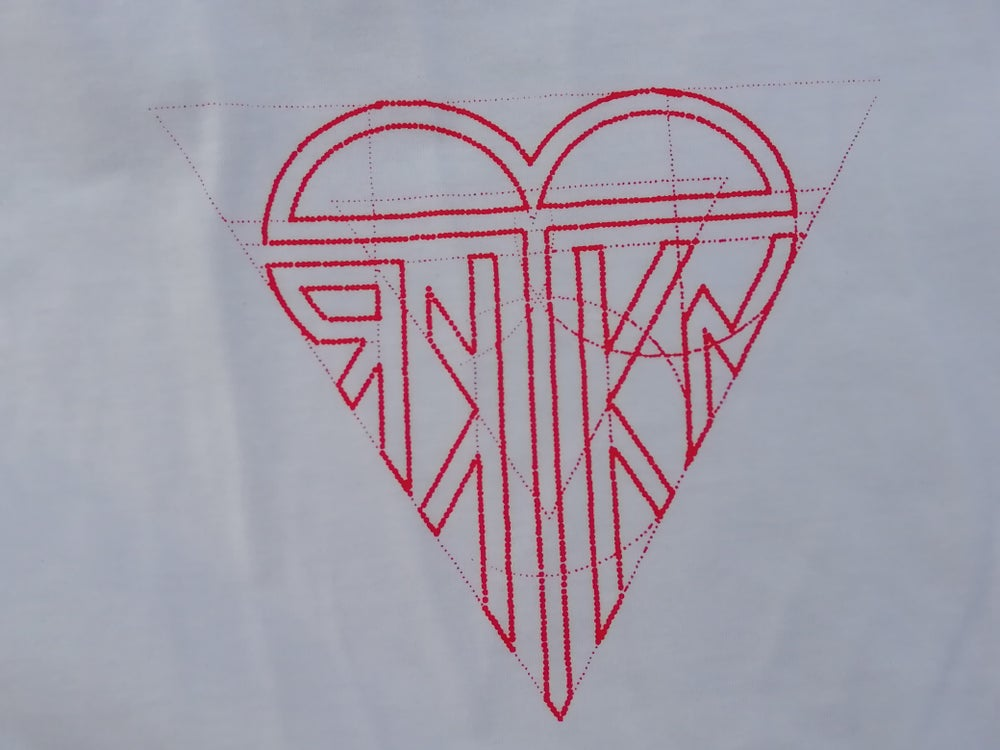"Image of T-SHIRT ""RED HEART"" WHITE"