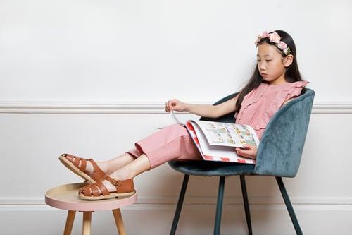 Chaussures enfants en cuir