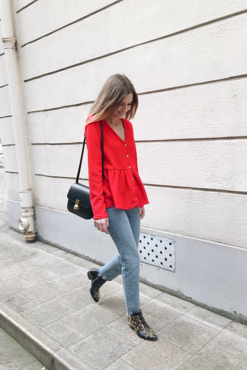 Image of BLOUSE TIANA - ROUGE