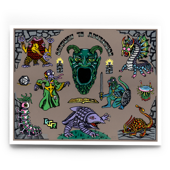 Image of Classic D&D Monsters (grey)