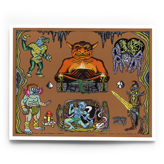 Image of Classic D&D Monsters (brown)