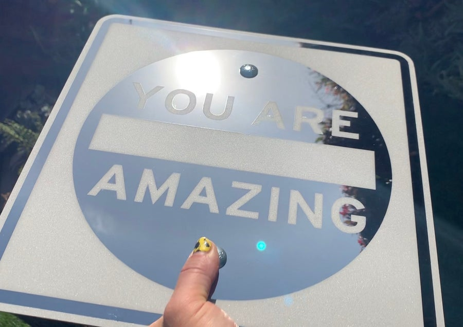 Image of You Are AMAZING Mirror Sign (Signed)