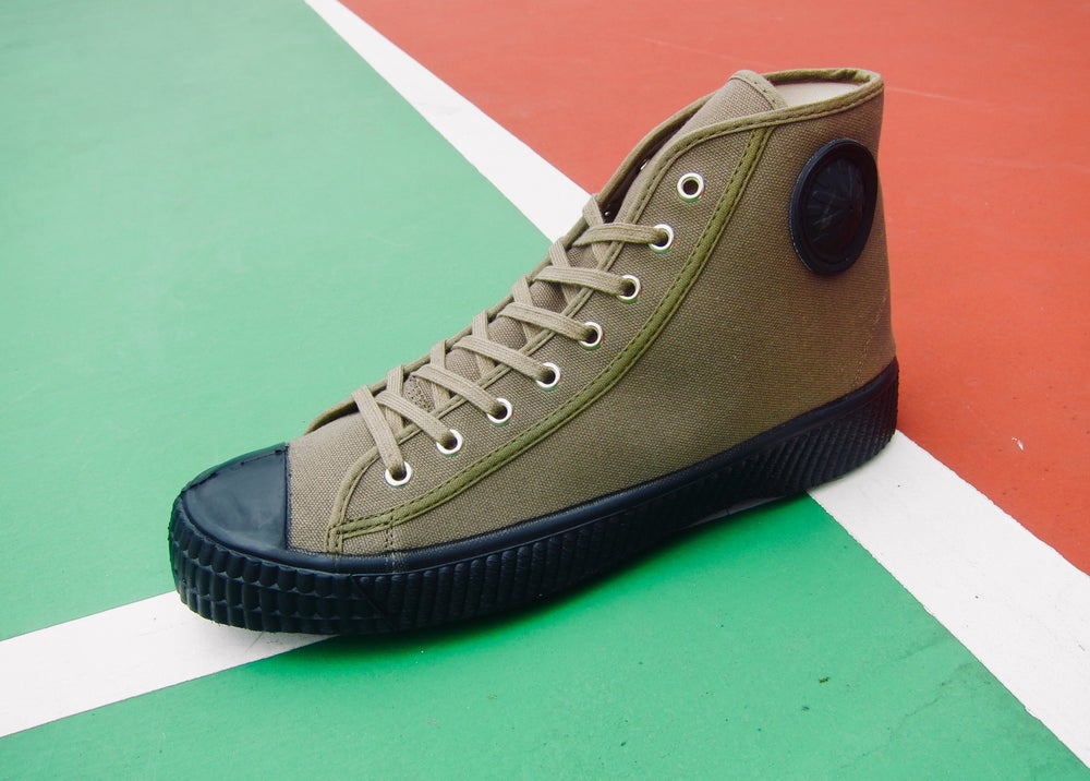Image of ZDA Czech army trainer hi top sneaker shoes made in Slovakia