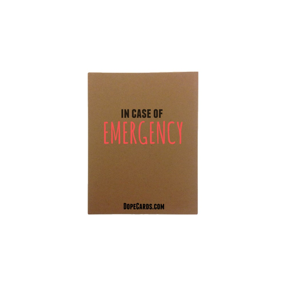 Image of in the case of emergency