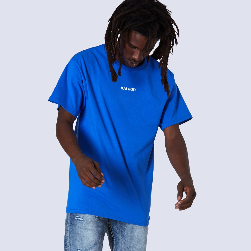 Image of KALIKID Logo Royal Blue T-shirt