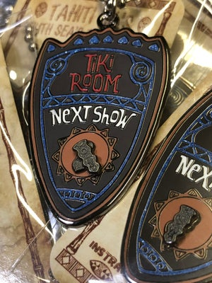 "Image of Enchanted Tiki Room's ""Next Show"" Pendant"