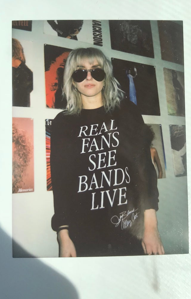 Image of ' Real Fans ' long sleeve black T