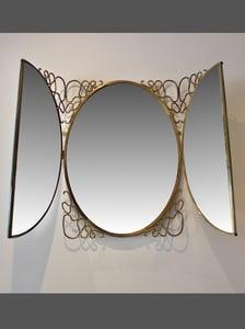 Image of Italian Folding Wall Mirror, 1950s