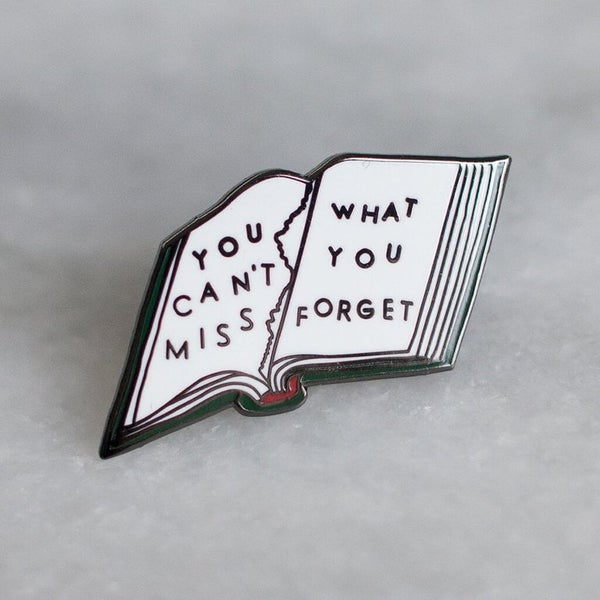 Image of Stay Home Club x AF - You Can't Miss What You Forget Enamel Pin (2016)