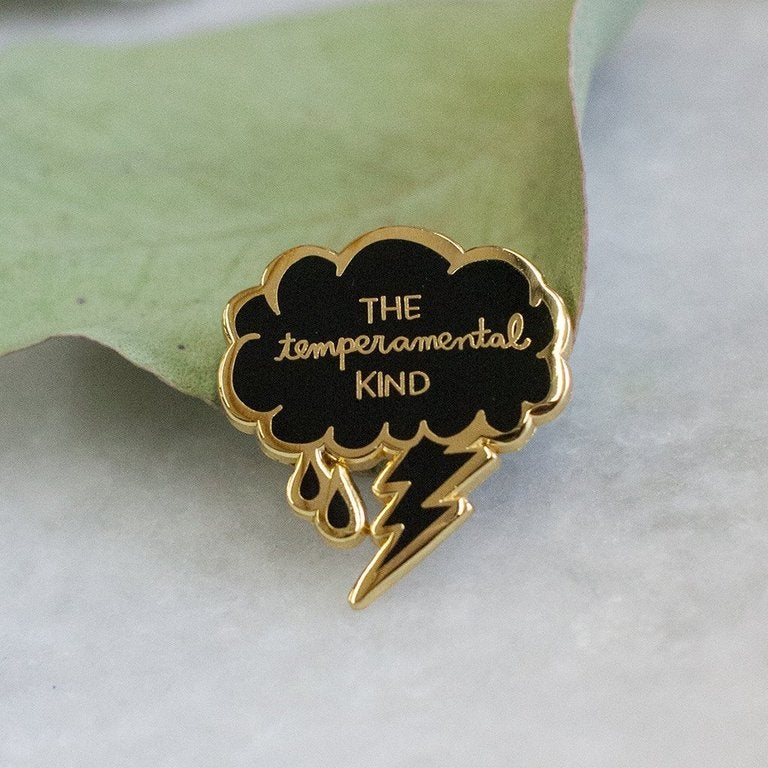 Image of Stay Home Club x AF - The Temperamental Kind Enamel Pin (2016)