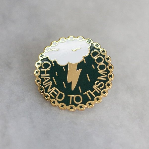Image of Stay Home Club x AF - Chained to This Mood Enamel Pin (2016)