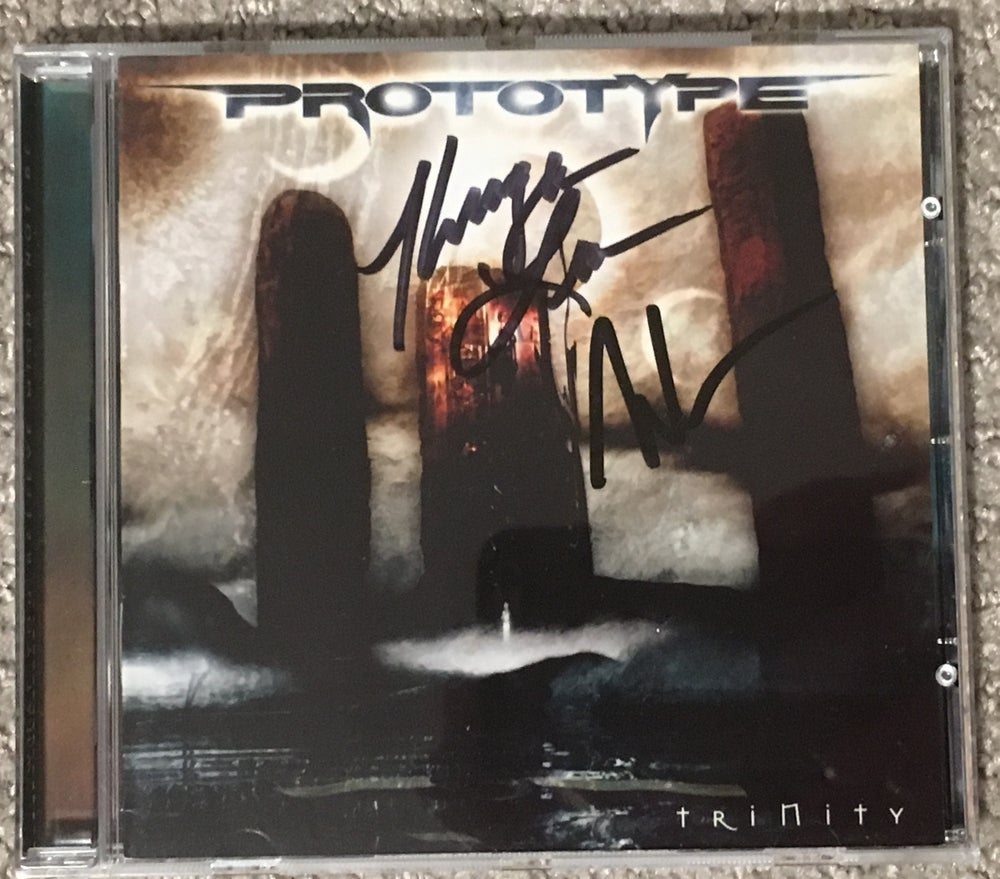 "Image of Prototype ""Trinity"" Autographed CD + T-Shirt + Promo Photo + Mini Poster Bundle"