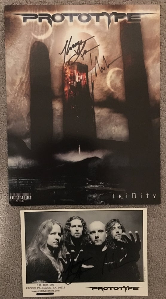 "Image of Prototype ""Continuum"" Autographed CD + T-Shirt + Promo Photo + Mini Poster Bundle"