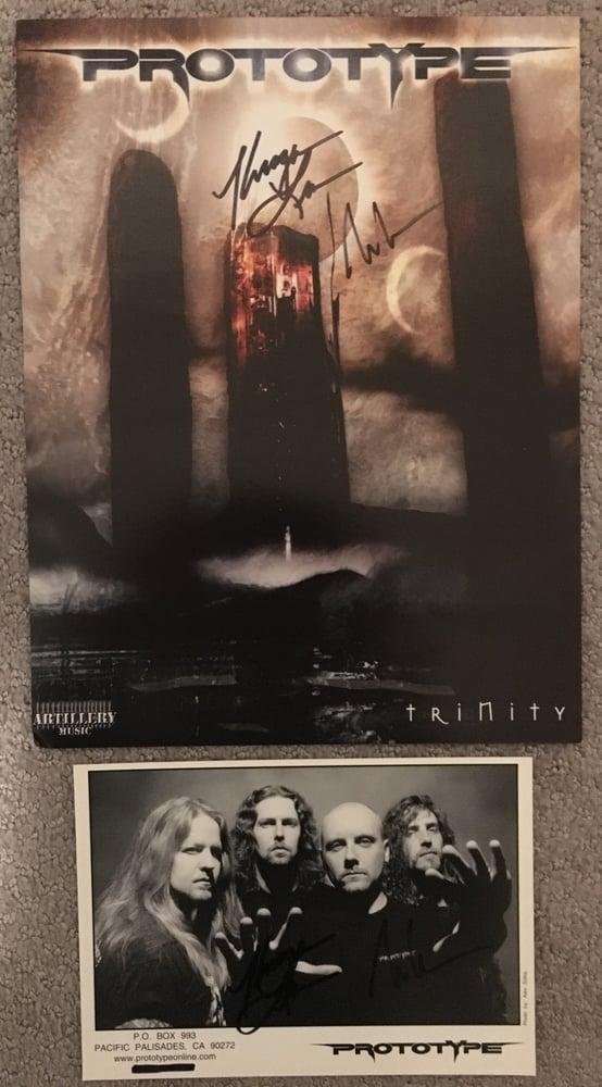 "Image of Prototype ""Cloned"" Autographed CD + T-Shirt + Promo Photo + Mini Poster Bundle"