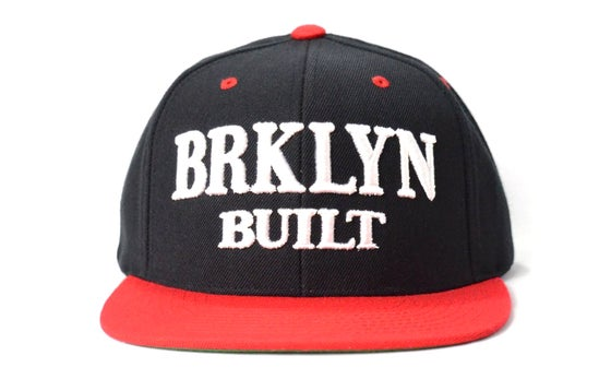 Image of BRKLYN BUILT (BLACK/WHITE/RED) - SNAPBACK