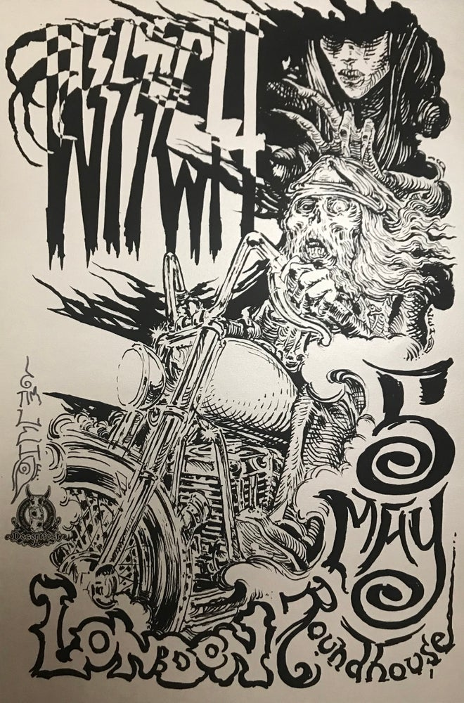 "Image of Tim Lehi ""Witch London"" Signed Lithograph Rock Poster"