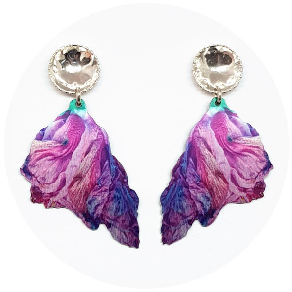 Image of Flower Power Earrings - Purple
