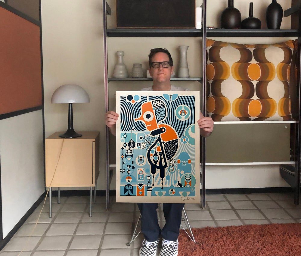 "Image of ""Portrait of the Artist"" ltd edtn screen print through Poster Child Prints"