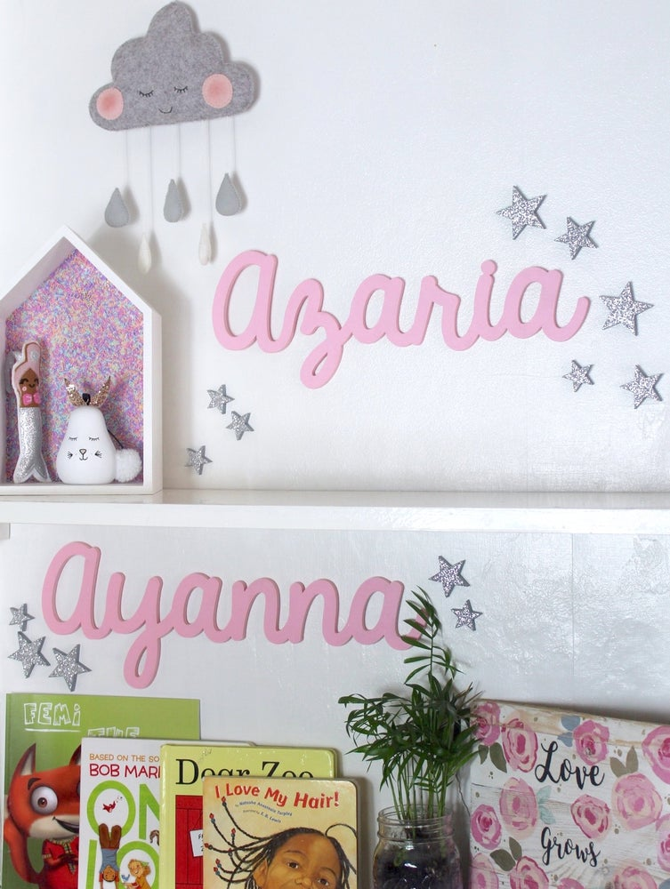 Image of Wooden wall words - paint your own or painted
