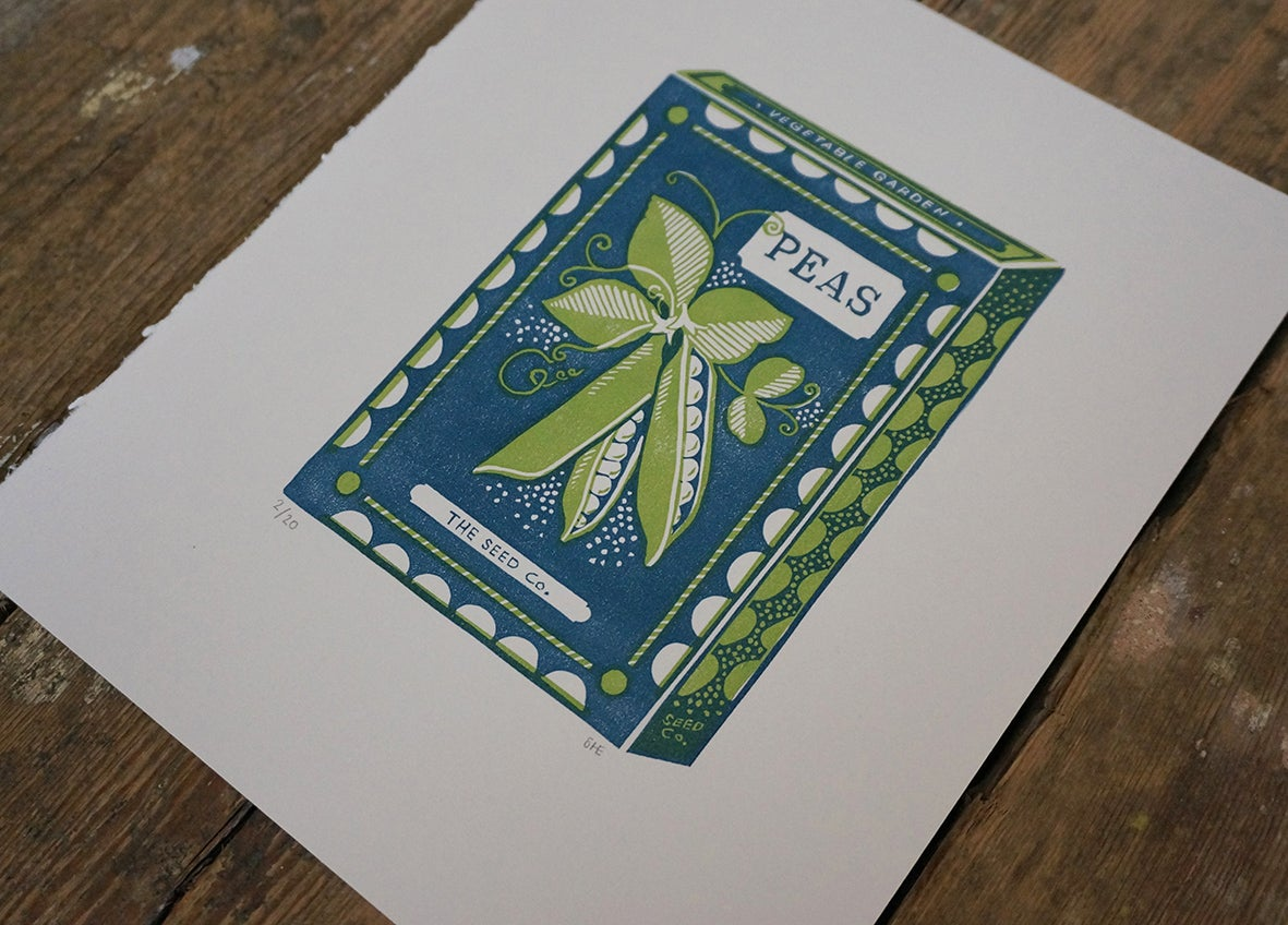 Image of March Print - Peas