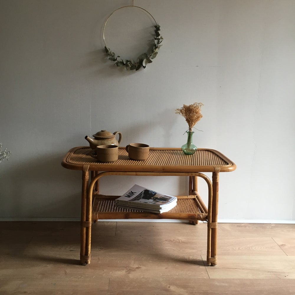 Image of Camille, table basse en rotin