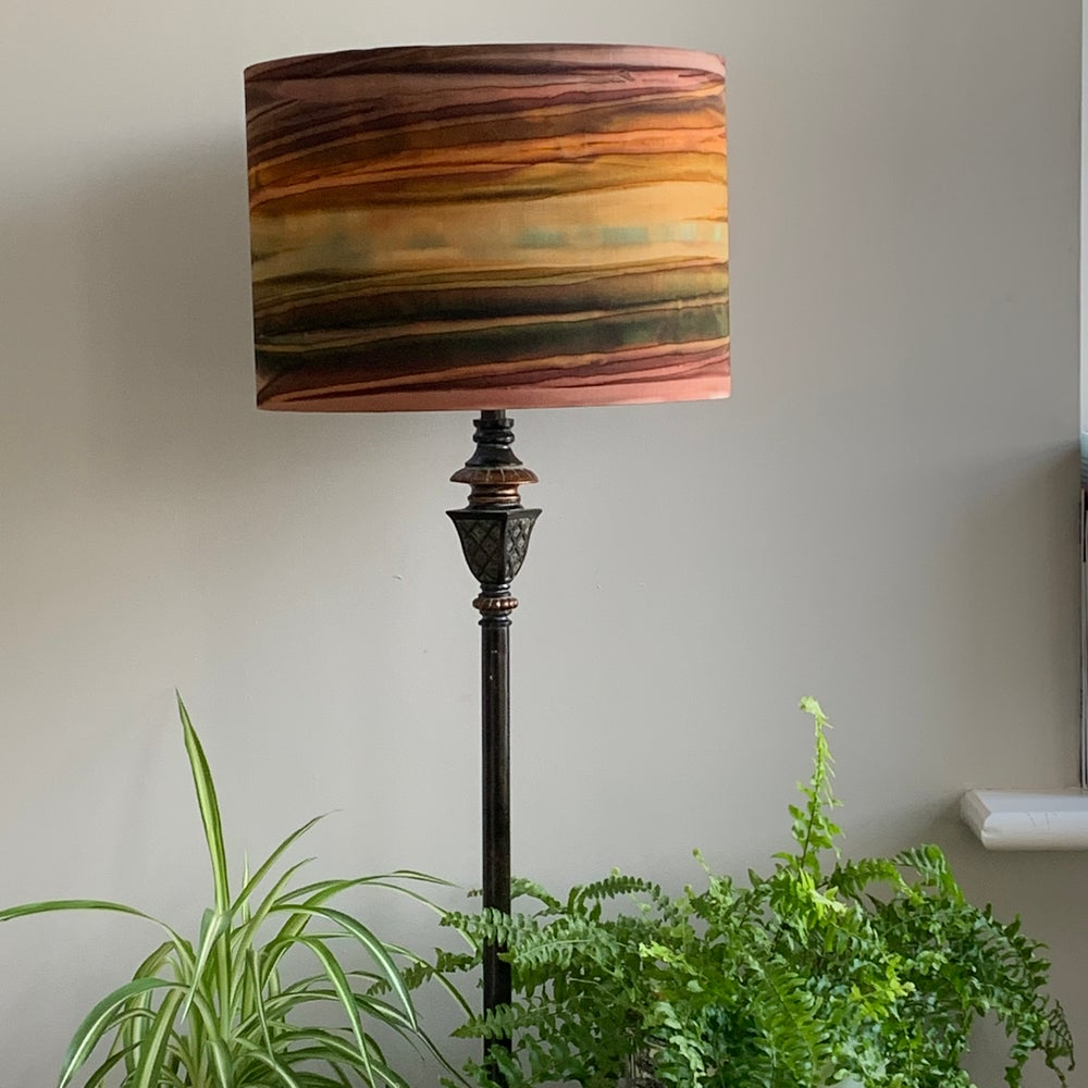 Image of Patina Handpaints Stripes Russet Shade 30cm