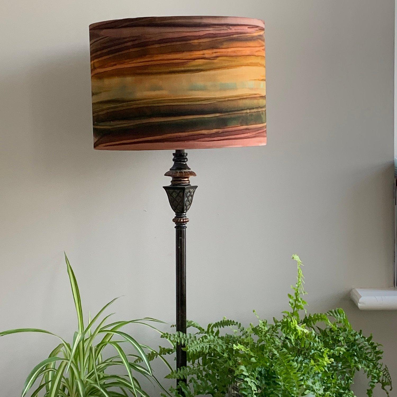 Image of Patina Handpaints Stripes Russet Shade 30cm