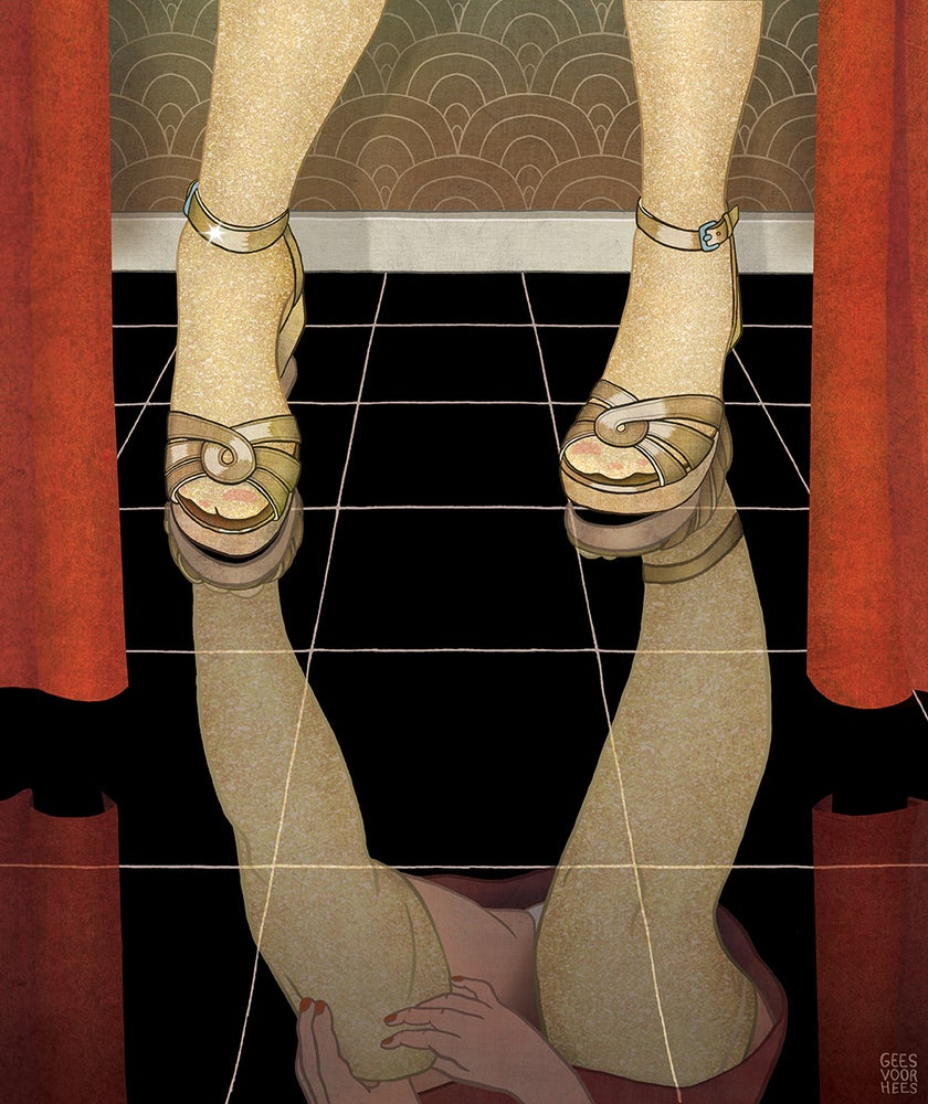 Image of Fitting Room Floor giclee print