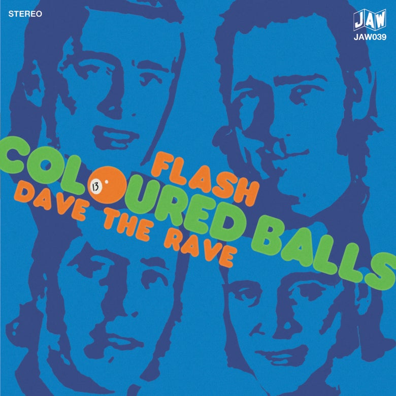 "Image of COLOURED BALLS ""Flash"" b/w ""Dave The Rave"" 7"" single"