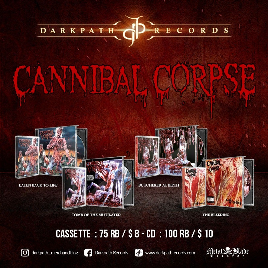 Image of CANNIBAL CORPSE - The 4 initial albums