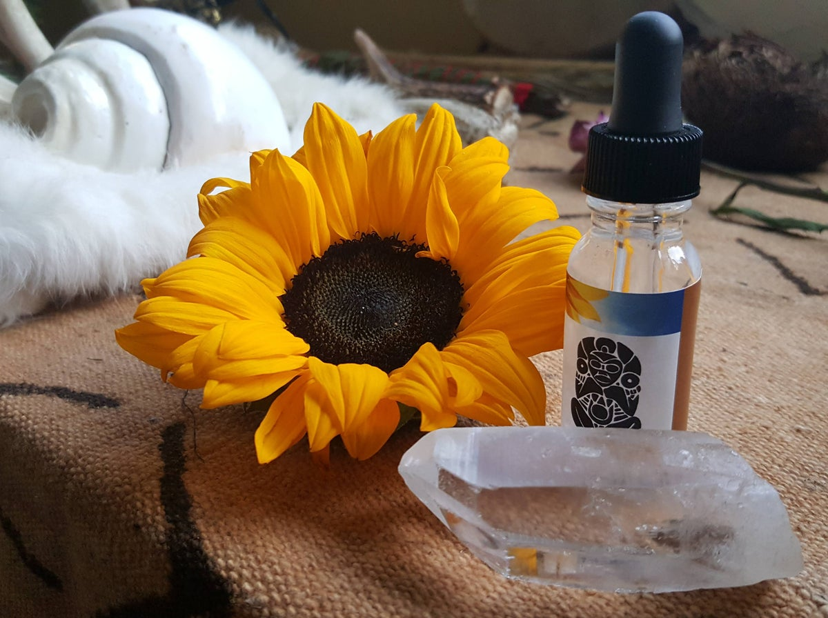Image of Sunflower Quartz Infused Essence - made in Boriken (Puerto Rico) 1 oz